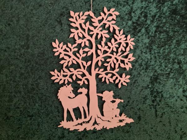 Hirtenjunge unterm Baum