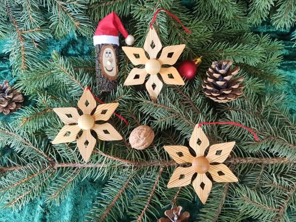 Christbaum-Weihnachtsbaum-Holzanhänger in Massivholz