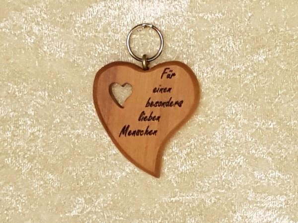Schlüsselanhänger: Sag es doch mit Herz, Kleingeschenk mit persönlicher Botschaft, Wichtelgeschenk
