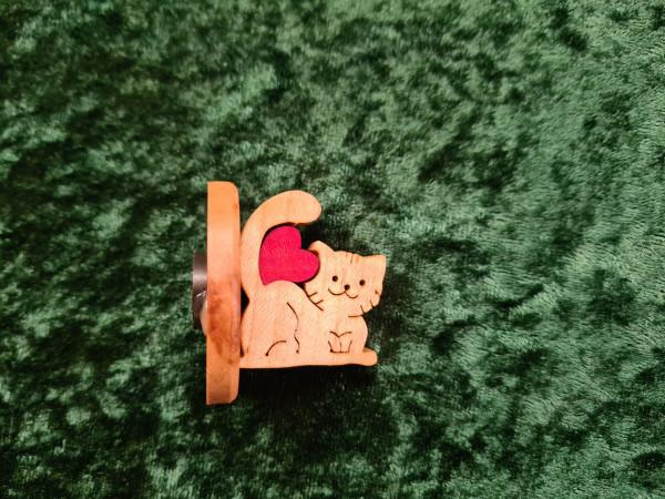 Magnet Katze mit Herz
