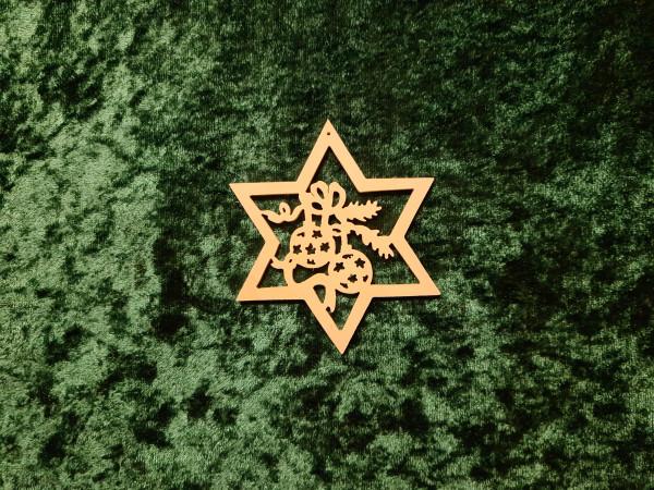 2 Weihnachtskugeln im Stern