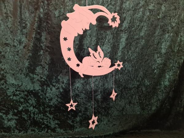 Engel auf dem Mond mit Sterne