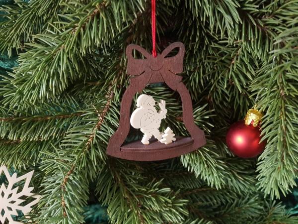 Christbaum-Weihnachtsbaum-Holzanhänger Natur-gebeizt