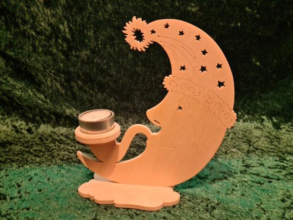 Mond mit Teelicht