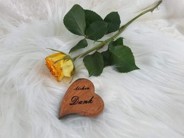 Handschmeichler oder Dekoration, Herz mit Botschaft, Sag es doch mit Herz