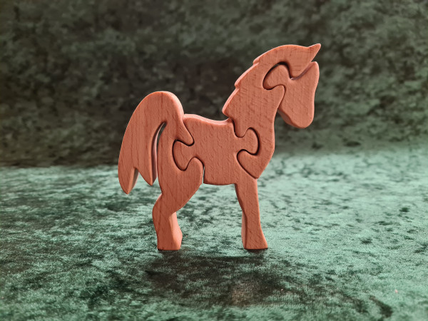 Massivholz - Puzzle Pferd