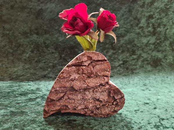 Herz: mit Vase