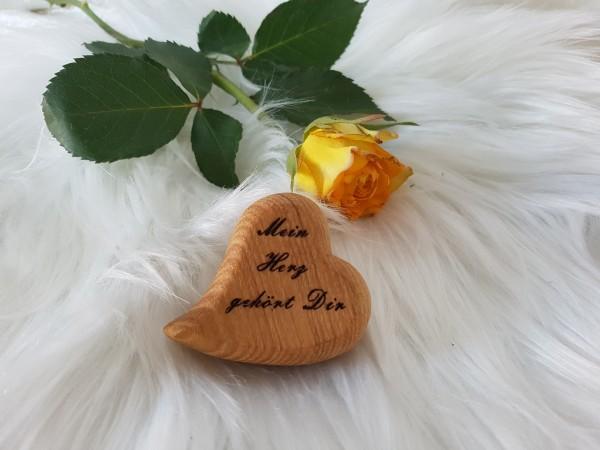 Handschmeichler- Dekoration- Herz mit Botschaft- Sag es doch mit Herz- Mein Herz gehört Dir