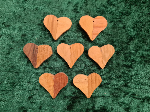 Massivholz - Anhänger - Herz