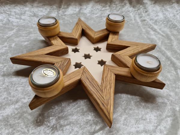 Adventstern mit 4 Teelichter