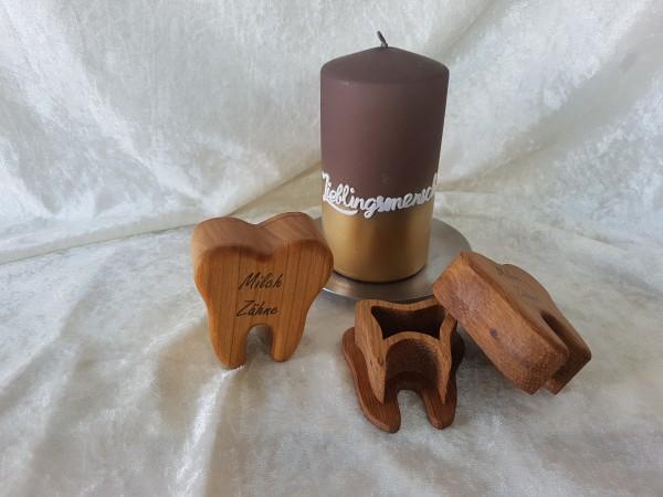 Milchzahndose für Jungen und Mädchen, Zahn box für Milchzähne aus Holz, Zahn dose mit Namen personal