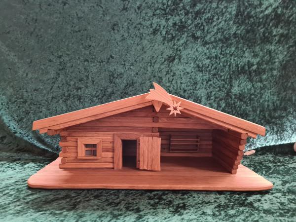 Blockhaus - Krippe - ohne Figuren