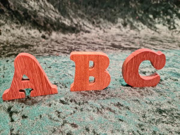 Massivholz - Eiche - Buchstaben