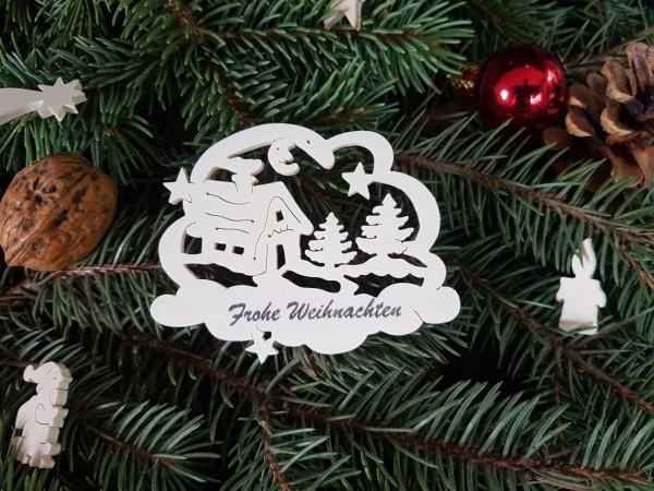 Waldhaus mit Frohe Weihnachten