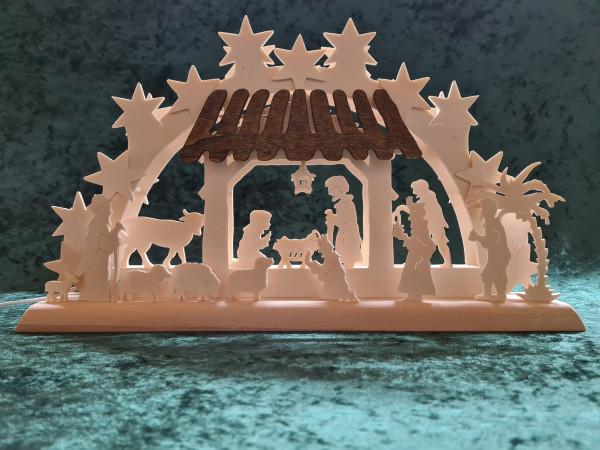 Schwibbogen - 3-D heilige Familie