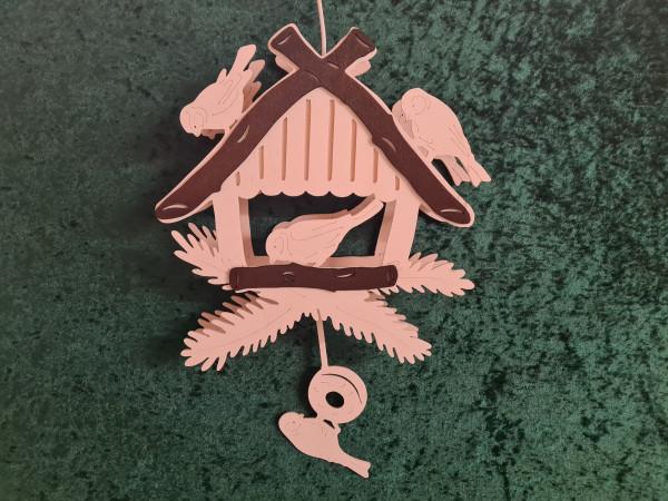 4 Vögel am Futterhaus