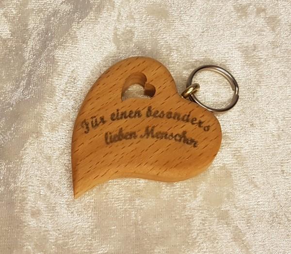 Schlüsselanhänger Herz Asymmetrisch