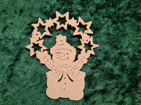 Schneemann mit Sterne